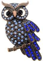 Fantasyard Vintage Sapphire Owl Pin Brooch