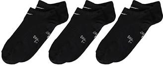 Nike Performance Lightweight No Show Training Socks 3-Pair Pack (Little Kid/Big Kid) (Black/White) Kids Shoes
