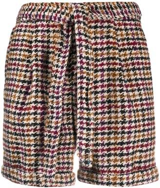 Steffen Schraut Madison check-print tie-waist shorts