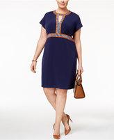 MICHAEL Michael Kors Size Border-Print Dress