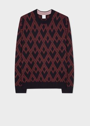 Men's Burgundy 'House' Jacquard Sweater