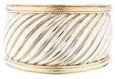 David Yurman Two-Tone Sculpted Cable Cuff Bracelet