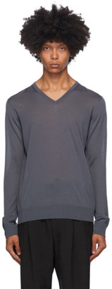 Giorgio Armani Grey Wool Sweater