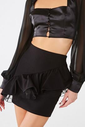 Forever 21 Tiered Flounce Mini Skirt