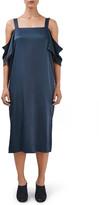 Topshop Off the Shoulder Midi Dress