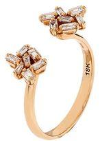 Suzanne Kalan Baguette White Diamond Open Ring