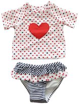 eKooBee Baby Little Girls Tankini Love Heart Swimsuits Two Piece Set