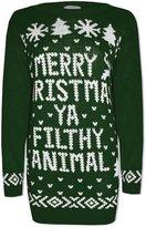 Friendz Trendz -Women Plus size Merry Christmas Ya Filthy Animal Novelty Xmas Jumper (xxl, )