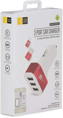 Bytech 3-Port Car Charger w/ Micro USB Cable