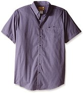 Wrangler Men's Big and Tall Classic Short Sleeve Woven Shirt