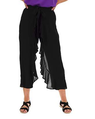 Marisota Crinkle Wrap Crop Trousers