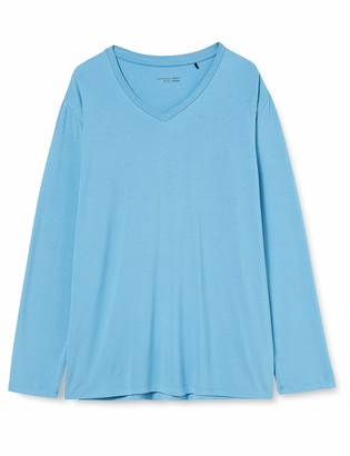 Schiesser Men's Mix & Relax Langarmshirt V-Ausschnitt Pajama Top