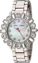 Betsey Johnson Women's BJ00612-01 Mixed Crystal Bezel Case and Bracelet Watch