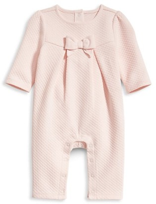 Janie and Jack Baby Girl's Bow Coverall