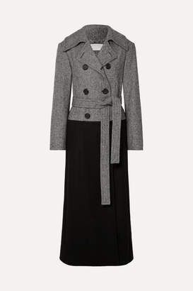 Chloé Double-breasted Wool-blend Coat - Black