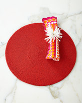 Kim Seybert Round Red Seed-Bead Placemat