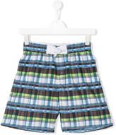 Boss Kids checked swim shorts