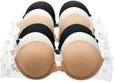 Angelina White & Beige Convertible Front-Closure Push-Up Bra Set - Plus Too