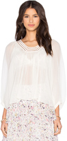 Rebecca Taylor Long Sleeve Lace Top