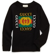 Gucci Boy's Logo Graphic Sweatshirt