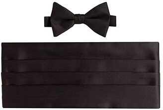 David Donahue Satin Pre-Tied Bowtie and Cummerbund Set