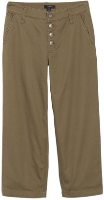 J.Crew Button Fly Wide Leg Trousers