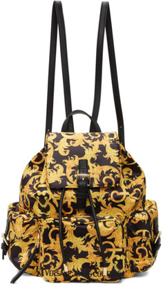 Versace Jeans Couture Black Barocco Shelly Backpack