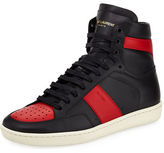 Saint Laurent SL/10H Men's Signature Court Classic Leather High-Top Sneaker