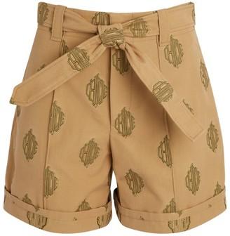 Chloé Paperbag-Waist Logo Shorts