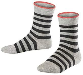 Falke Kids Double Stripe Socks - 81% Cotton,(Manufacturer size: 27-30), 1 Pair