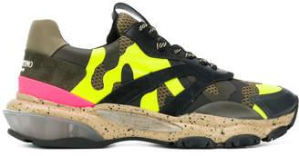 Valentino garavani bounce camouflage sneakers yellow