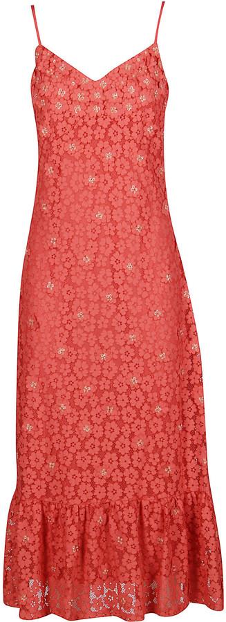 MICHAEL Michael Kors Coral Pink Midi Dress