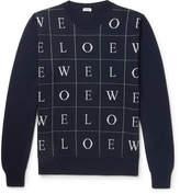 Loewe Slim-Fit Intarsia Wool Sweater