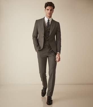 Reiss Brompton - Single Breasted Wool Suit in Sage Green