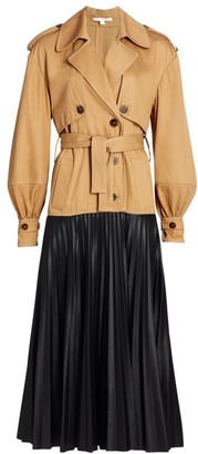 Jonathan Simkhai Dakota Vegan Leather Trench Coat