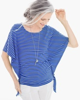 Chico's Ideal Striped Side-Tie Tee