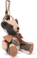 Burberry Checked Cashmere Keychain - Beige