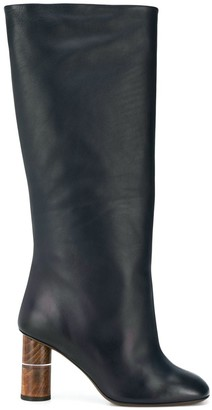 Neous wooden heeled boots
