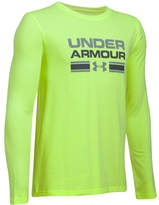 Under Armour Boys' Crossbar Logo Long Sleeve T-Shirt