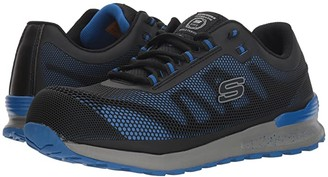 Skechers Bulklin Comp Toe (Black) Men's Lace up casual Shoes