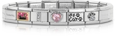 Nomination Classic I Love My Cat Stainless Steel Bracelet w/Pink Crystal Heart