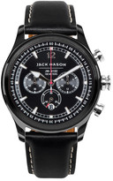 Jack Mason Brand Men&s Brand Nautical Chronograph Italian Leather Strap 42mm Watch