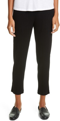 Eileen Fisher Tapered Rib Ankle Pants