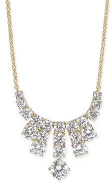 "Eliot Danori Gold-Tone Cubic Zirconia Statement Necklace, 16"" + 1"" extender, Created for Macy's"