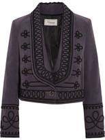 Temperley London Voyage Embroidered Cotton-corduroy Jacket - Grape