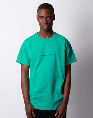 The Idle Man - Sunday Club Slow Times Embroidered T-Shirt Turquoise