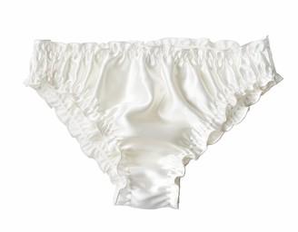 Teya Pamela Silk Briefs In White