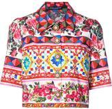 Dolce & Gabbana Mambo print cropped shirt - women - Cotton - 42