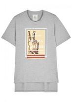 Maison Mihara Yasuhiro Grey Logo-print Cotton T-shirt