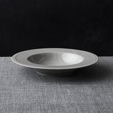 Crate & Barrel Staccato Grey Low Bowl
